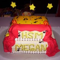 Megan's High School Musical Cake This cake was for my daughter's spend the night b-day party. She wanted a HSM cake. I think it turned out okay, but my sister-in-law...