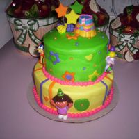Dora The Explorer  I made this cake for a 3 year old little girl for her b-day. The mom absolutely loved the cake. It was a hit at the party. I am glad the...