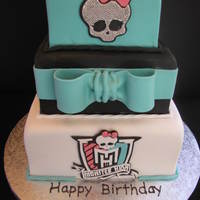 Monster High Cake   Made for a 7 year old's birthday - all edible and hand cut.