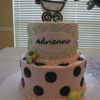 Baby Shower Cake   all edible, all hand cut and hand piped.