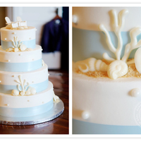 Beach Themed Cake   Inspiration from Edna - All edible - topper is handmade. Red Velvet and buttercream