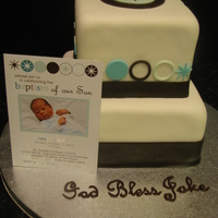 Baptism Cake   Made to match the invitations