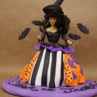Midevil Witch Happy halloween to all your tradtional halloween go'ers!Enjoy this fondant witch cake with a touch of midevil flair!!