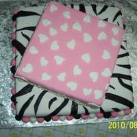 Bridal Shower Chocolate & vanilla cake with marshmallow fondant made for a bridal shower