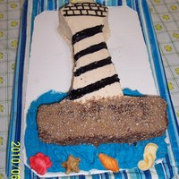 Lighthouse Cake Vanilla cake with buttercream