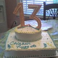 "13 Year Old Cake My little neighbor asked me to make him a cake. I like the ""13"" I made out of royal icing. But the cake itself helped me to see I..."