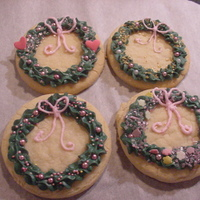 Holiday Wreaths These were the quickest easiest cookies I've ever made. SC w/ thick RI and sprinkles. Thanks for looking