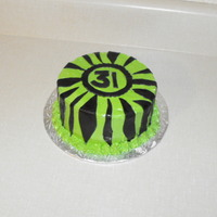 Green Zebra Birthday Cake