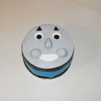 "Thomas Cake Small 6"" round done for my son's actual birthday, he will be getting a larger cake for his party :)"