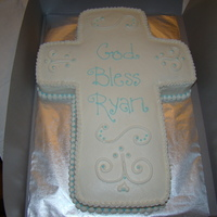 Christening Cake milk chocolate cake with bc