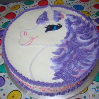Emily's Purple Unicorn Cake Chocolate cake (WASC recipe), all BC decorations. Thanks to RStarr for the idea!