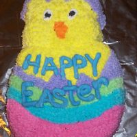 Happy Easter Easter chick from wilton cake pan