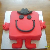 Mr Strong Fondant covered sponge cake