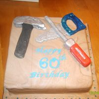 Carpenters Cake Fondant cake with gumpaste tools