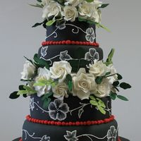 Black And White A take on one of the 50 most beautiful cake from Bride's magazine