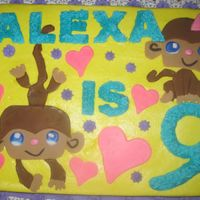 Littlest Pet Shop Inspired Monkey Cake My daughter wanted a LPS Monkey Cake and I couldn't even find a coloring page with the Monkeys on it. So I ended up printing out a...