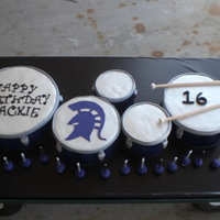 Tenor Drums All cake. Almost full size