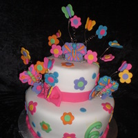 Butterfly Cake Butterfly cake to match party decorations