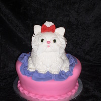 Kitty Cake All cake. The kitty looks a little creepy if you ask me. But, my daughter loved it.