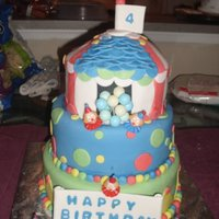 Circus Them CAKE MADE ALL IN FONDANT .