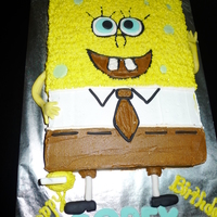Spongebob Sheet cake made in buttercream icing for a friends son.