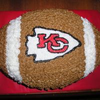 Chiefs Football Cake I did this cake for my sister's birthday