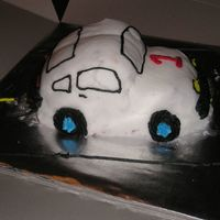 Smash Cake Car This was a 8 inch round that I cut in half and put together and then sculpted down to resemble a car. I had a lot of fun doing this. I&#039...