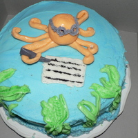 Octopus Cake A cake I made for one of my supervisors. It was so much fun to make and well received. I love doing this for a hobby and just experimenting...
