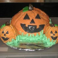 3D Pumpkin Cakes With Rbc  I didn't have a ball cake pan so I used the tops of the Wilson cupcake molds. I don't think I made the RBC correctly because it...