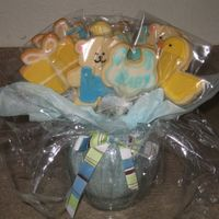 Baby Shower Cookie Bouquet   These are some NFSC cookies that I made for a baby shower.