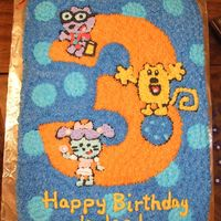 Wow! Wow! Wubbzy! Cake Used the cartoon as inspiration for this third birthday cake. It is decorated in all buttercream.