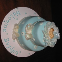 Another Baby Shower Cake! Another baby shower cake done for my husband's co-worker's daughter. I just love the baby mold! TFL!!