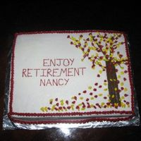 Retirement  My friend retired from the company I work at and she loves the fall season. I got the idea of the tree with red and yellow leaves from some...