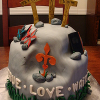 True Love Waits Cake done for a young woman to give to her boyfriend. She wanted all of the specific special elements incorporated into the cake. The...