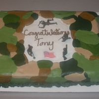Camo Cake 1/2 sheet marble cake with bc icing. For a person graduating bootcamp. Thanks to everyone who answered my questions about doing the camo...