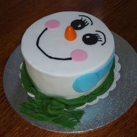 Fondant Snowman Birthday Cake Thank you to luvtodecorate for this great design. I needed something uncomplicated for my friend's son's 7th birthday. He...