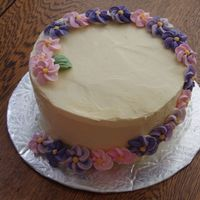 Swirl Of Flowers This was just done for a potluck meeting but I decided to put it here because it could be a nice, easy, fast Mother's Day cake. The...