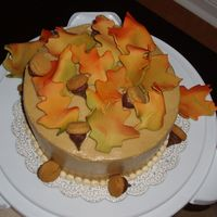 Fall Leaves First attempt working with gumpaste. Emeril's Buttermilk Spice Cake with Brown Sugar SMBC