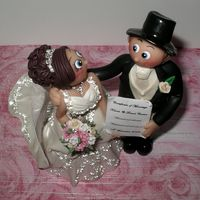 Bride & Groom With Marriage Certificate