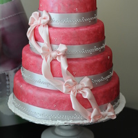 Pink Pearl Wedding Cake I gave this cake its color by sponge painting it with pink pearl dust. :)
