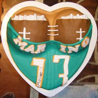 Dan Marino Thank you to CC users for this idea! The foot is not near the cake, I have a glass table! lol