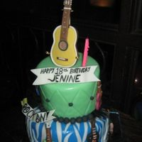 Rock And Roll Birthday Cake Made for a rockin' 18th birthday bash