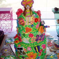 Hippie Themed Birthday Cake   Made for a 60's inspired surprise birthday party! :)