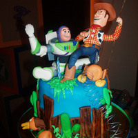 Toy Story Themed Cake   For a little boy's first birthday
