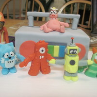 Yo Gabba Gabba I made this cake for my son's first birthday party. The theme was Yo Gabba Gabba and the cake was pound cake filled with blackberry...