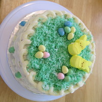 Easter Basketweave Cake My first attempt at basketweave! Cake is vegan carrot cake with vegan buttercream icing. Decorated with colored-green flaked coconut,...
