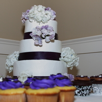 Hydrangeas I love this pic of these cupcakes and cakes.