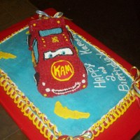Lightening Mcqueen   This is the 2nd part to the smash cake