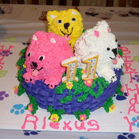 Puppies   My granddaughters cake for her 11th birthday