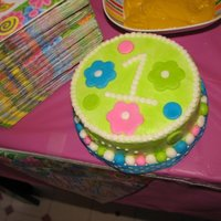 Smash Cake For 1St Birthday Green/pink